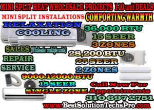 Air Condition Mini Split Installation Los Angeles ca